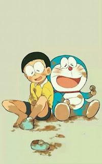 Gambar Animasi Nobi Nobita dan doraemon