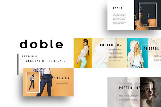 DOBLE Portfolio Designs PowerPoint Template
