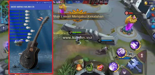 Download APK MOD Menu VIP Mobile Legends Patch 1.3.74