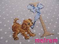 cross stitch dog