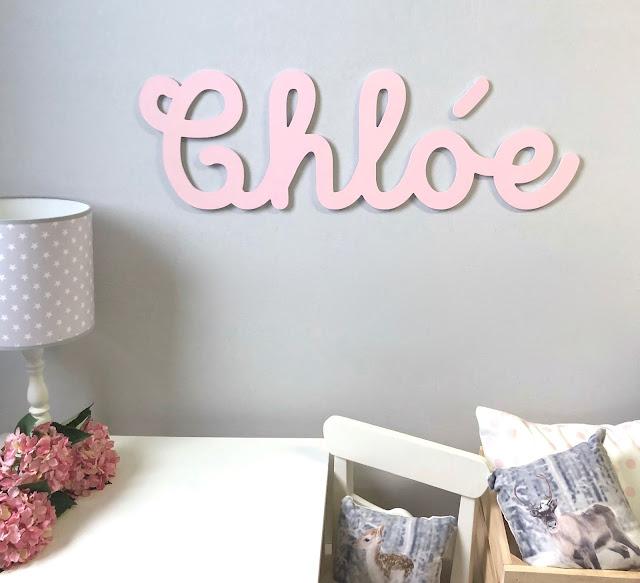 Letras y nombres para decorar paredes