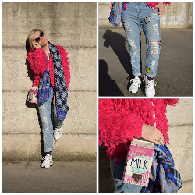 outfit fucsia come abbinare il fucsia how to wear fucsia jeans boyfriend recap outfit febbraio 2017 outfit casual invernali outfit invernali casual mariafelicia magno fashion blogger color block by felym fashion blogger italiane recap outfit febbraio february outfits winter casual outfits