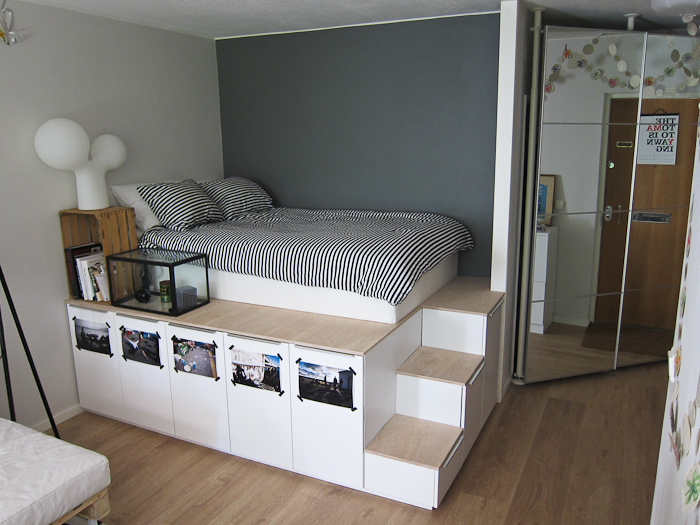 die wohngalerie stauraum unterm bett kreative l sungen mit ikea kommoden. Black Bedroom Furniture Sets. Home Design Ideas