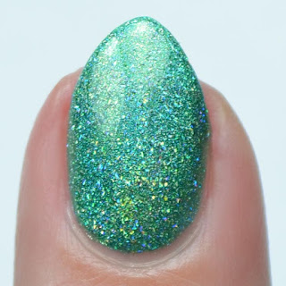 light green holo nail polish