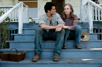 Diane Lane as Martha Kent with son Clark Kent (Henry Cavill), Man of Steel, Directed by Zack Synder