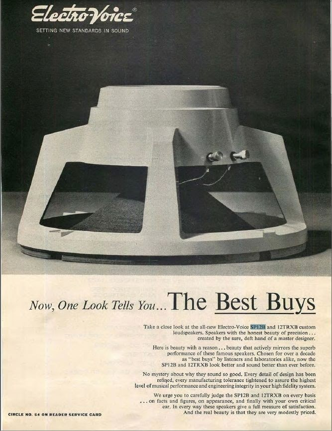 SP12B Ad in Hi-Fi Stereo Review February 1962 - p1