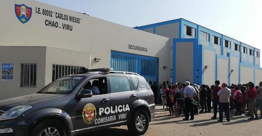 MINEDU investiga presunto caso de violación a escolar en colegio Carlos Wiesse de Chao - La Libertad