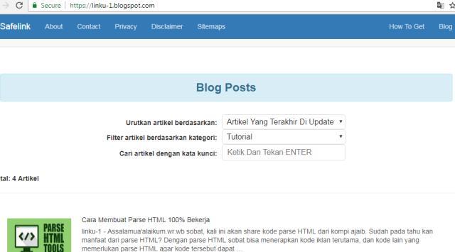 Cara Membuat Daftar Isi Pada Blogger  Ala Kompiajaib Non AMP
