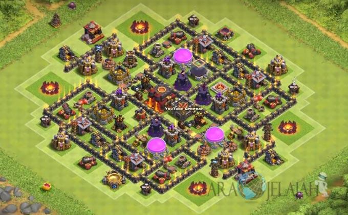 Base Hybrid TH 8 Clash Of Clans Terbaru Tipe 9