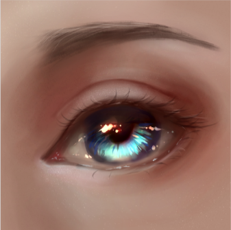 How To Draw A Semirealistic Eye Digital Painting Tutorials And
