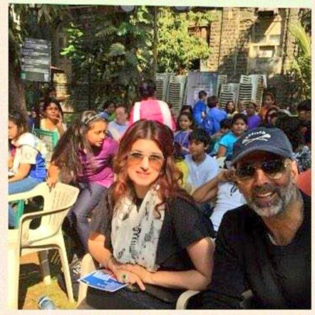 akshay kumar , and twinkle khanna , attended the worlds most horrid show' theatre competition at d sl gardens , yesterday @akshaykumar, Twinkle Khanna Latest Hot Pics