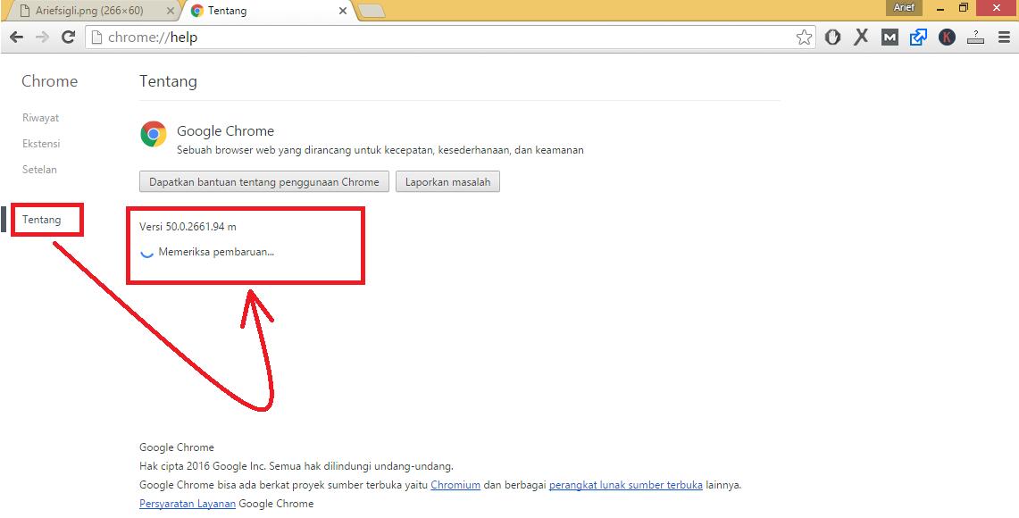 Cara Mudah Update Google Chrome Sepenuhnya