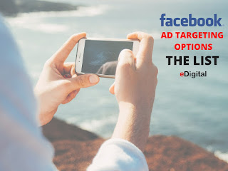 Facebook advertising targeting options - full printed list