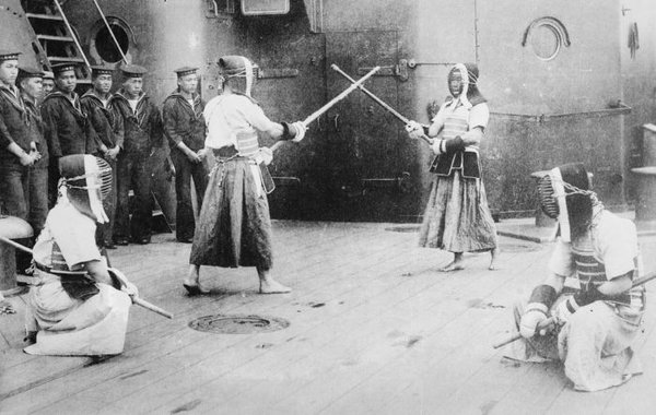 Kendo, on the Japanese ship, CA. 1910-15