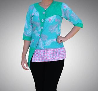 Contoh Baju Batik Wanita Kantor