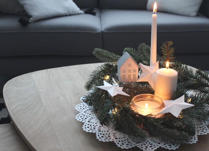 centros de mesa baratos - decoración navideña