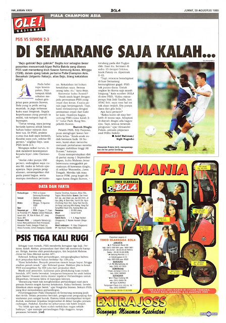PIALA CHAMPION ASIA PSIS SEMARANG VS SUWON 2-3