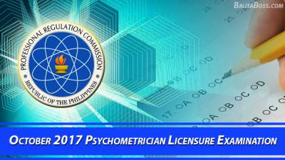 Psychometrician October 2017 Board Exam