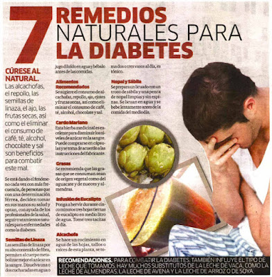 Los Remedios Caseros Naturales para Controlar la Diabetes
