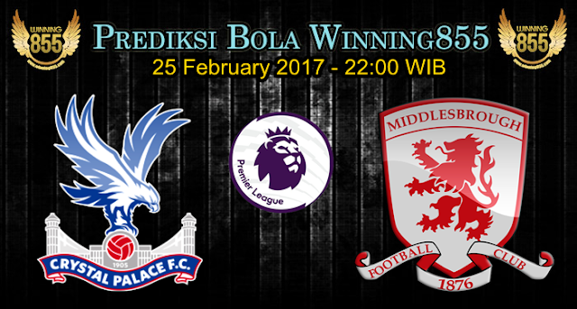 Prediksi Skor Crystal Palace vs Middlesbrough