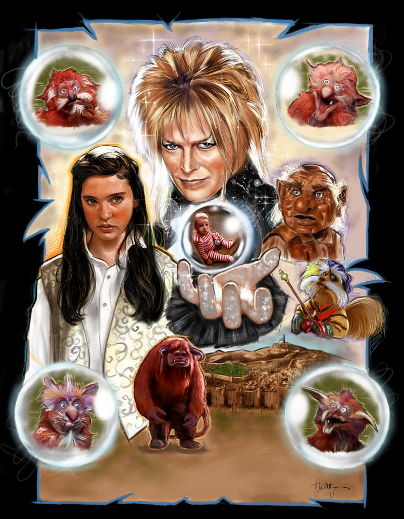 the geeky nerfherder movie poster art labyrinth 1986