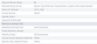Cisco ACS log results