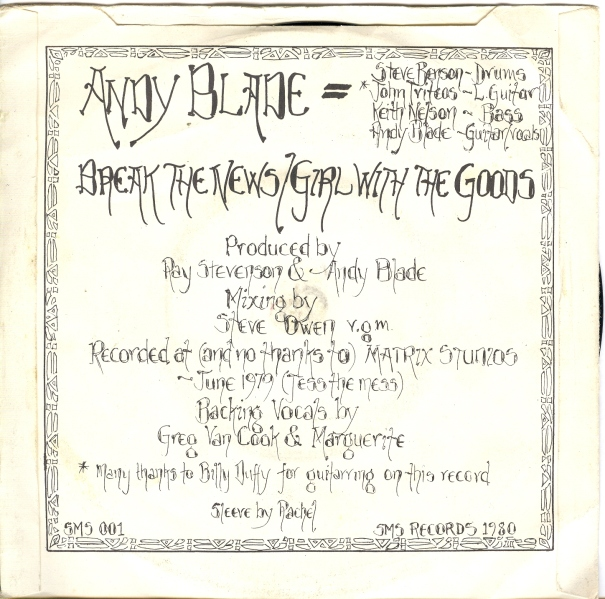 music ruined my life: Andy Blade (Ex-Eater): Break the News (1980)