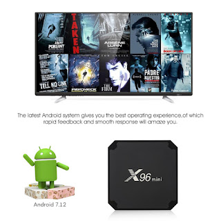 tv box android x96 2gb + 16gb