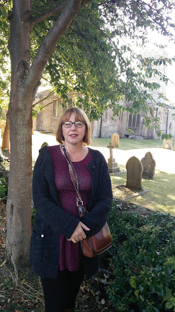 Nicola Day outside St Mary's Church