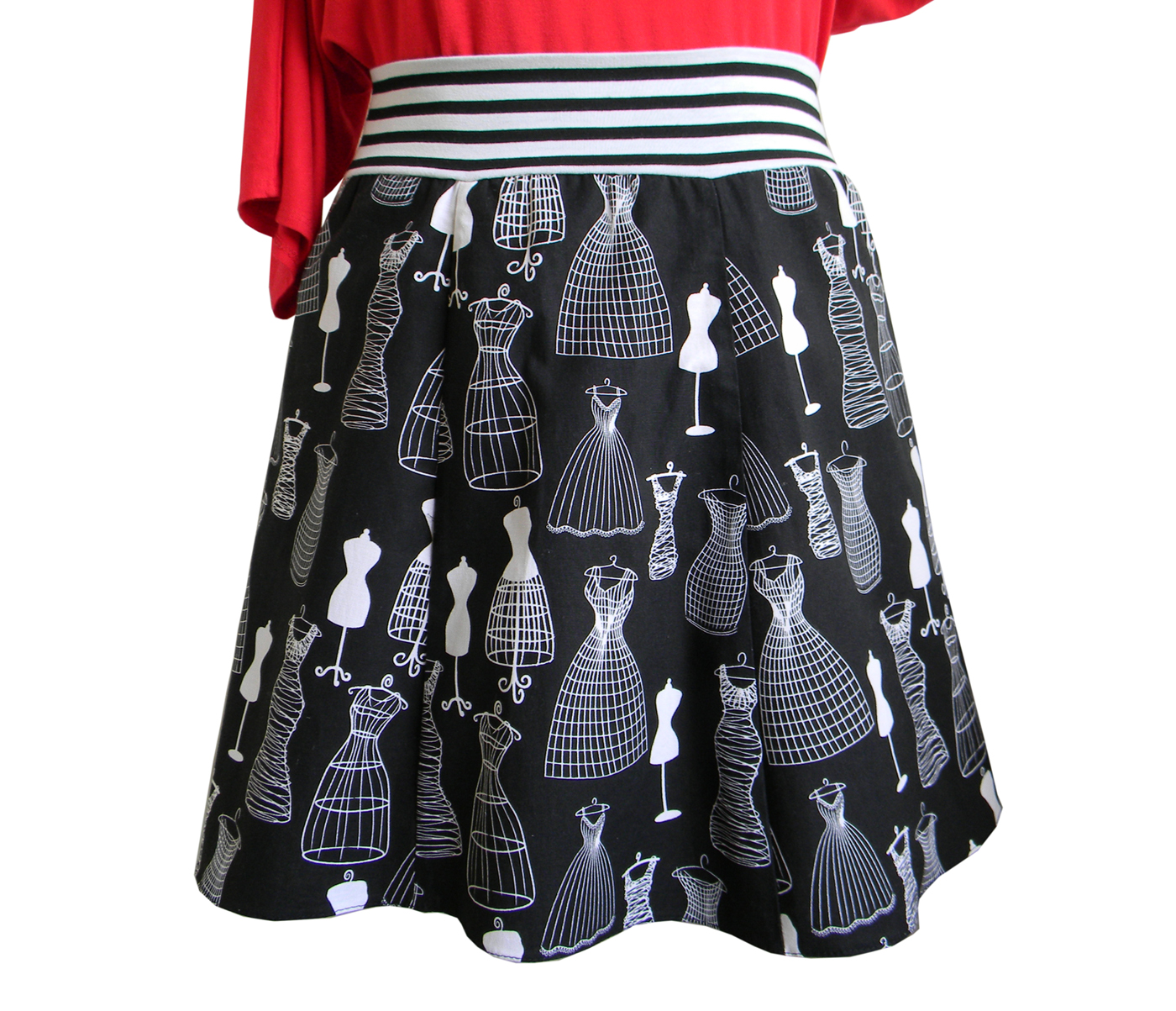 """Mannequins""Retro Fashion Handcrafted Skirt"