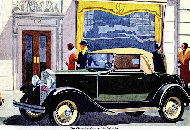 1927 Chevrolet Cabriolet, color illustration