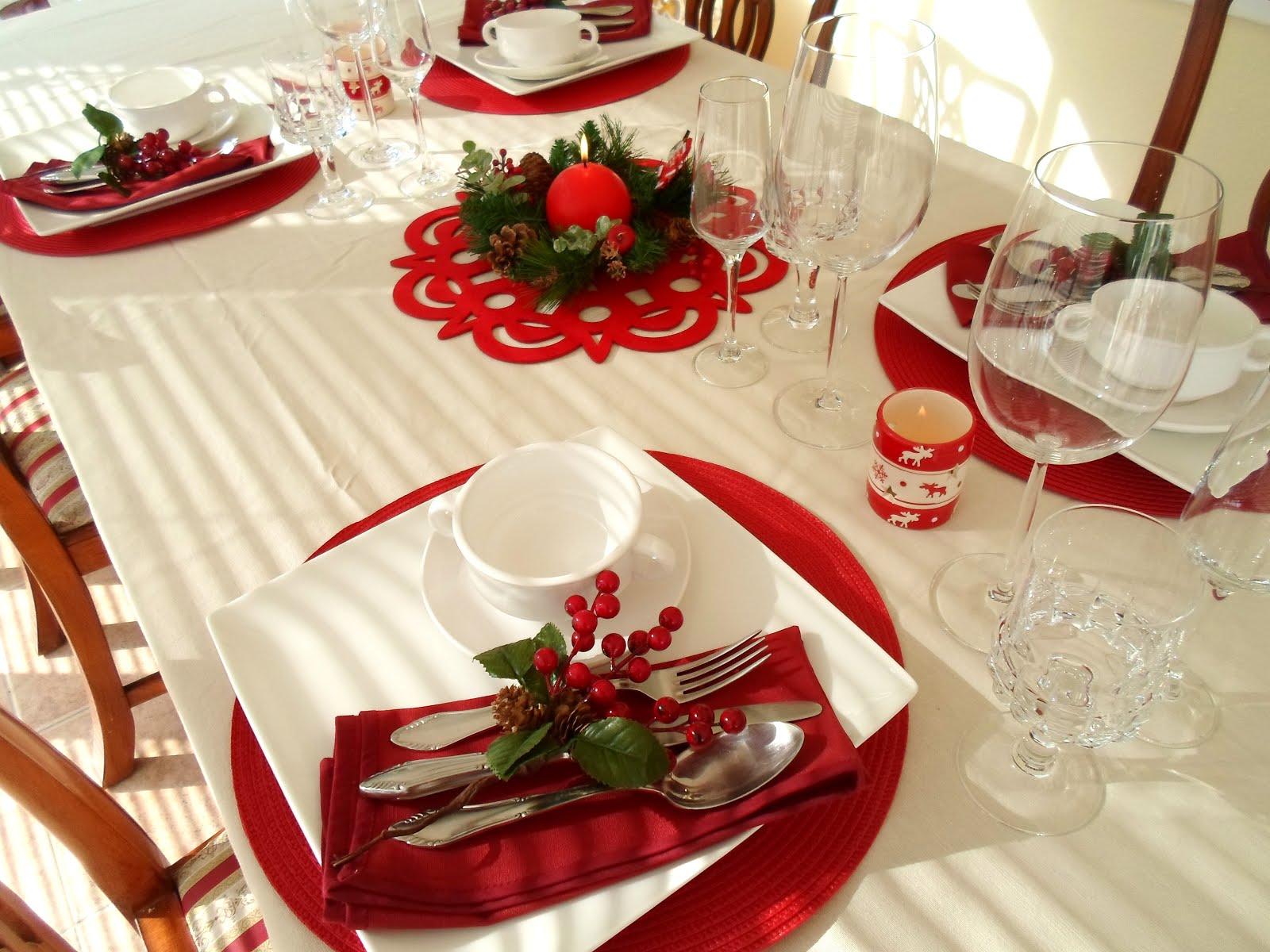 Mis trucos de reciclaje y mucho m s la mesa en navidad - Como poner la mesa en navidad ...