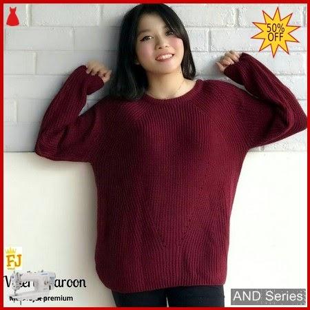 AND277 Sweater Wanita Valery Merah Maroon Premium BMGShop