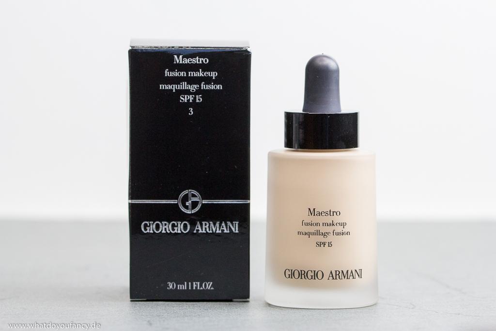 Giorgio Armani Maestro Fusion Makeup Foundation Farbton 3 von vorne