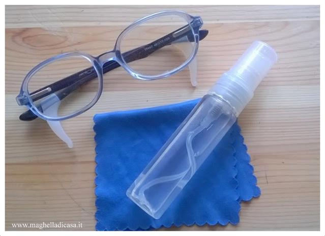 detergente occhiali, pulire occhiali