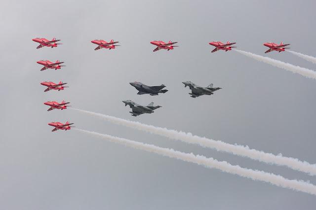 RIAT RAF 100 massive flypast