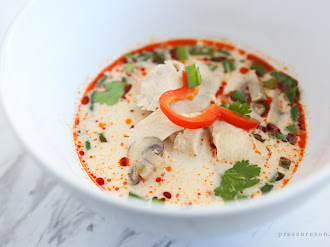 Pressure Cooker Tom Kha Gai (Thai Coconut Soup)