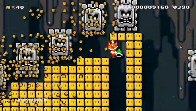 Super Mario Maker World Nintendo Championships spiny spiky hat Thwomps