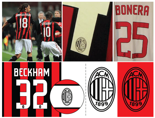 low priced f089e 7acfe Football teams shirt and kits fan: Font AC Milan 2008/09 kits