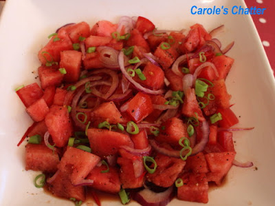 Carole's Chatter: Savoury Watermelon salad Revisited