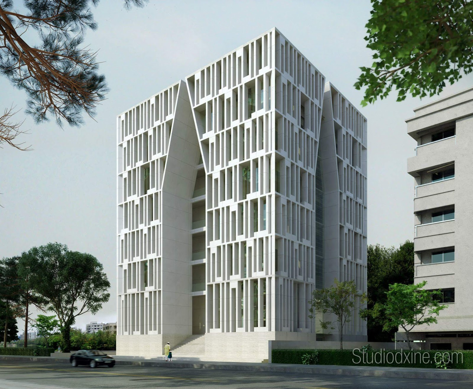 Gulshan society jame masjid by kashef mahboob urbana for Studio v architecture