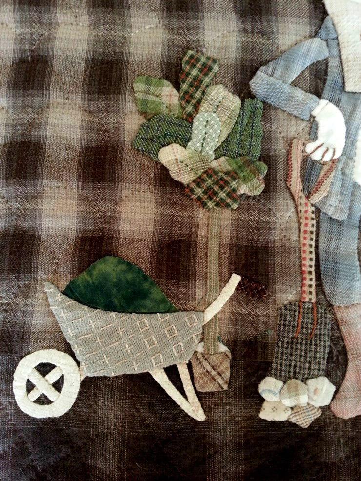 Warm quilted vest with application of tissue. We sew yourself. Теплый стеганный жилет с аппликацией из ткани. Шьем сами.