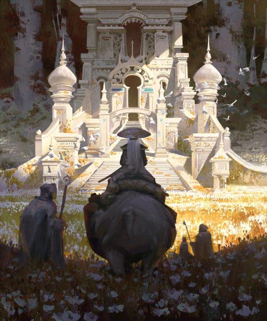 Ya Lun artstation arte ilustrações fantasia oriental ficção científica games
