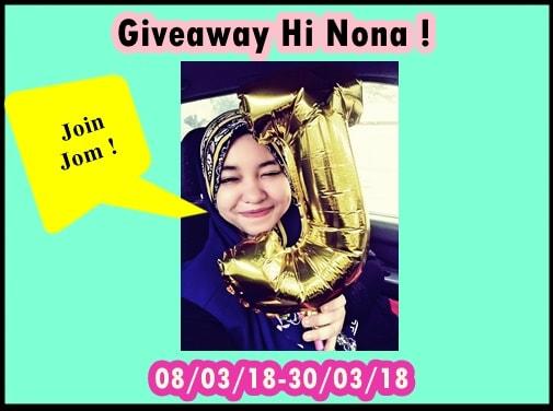 Giveaway Hi Nona !