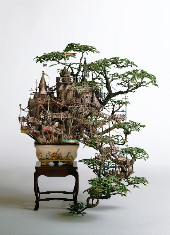 Pix Grove Bonsai Tree Castles By Takanori Aiba