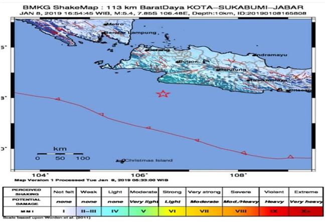 Gempa 5,4 SR Guncang Sukabumi, Sebagian Warga Panik