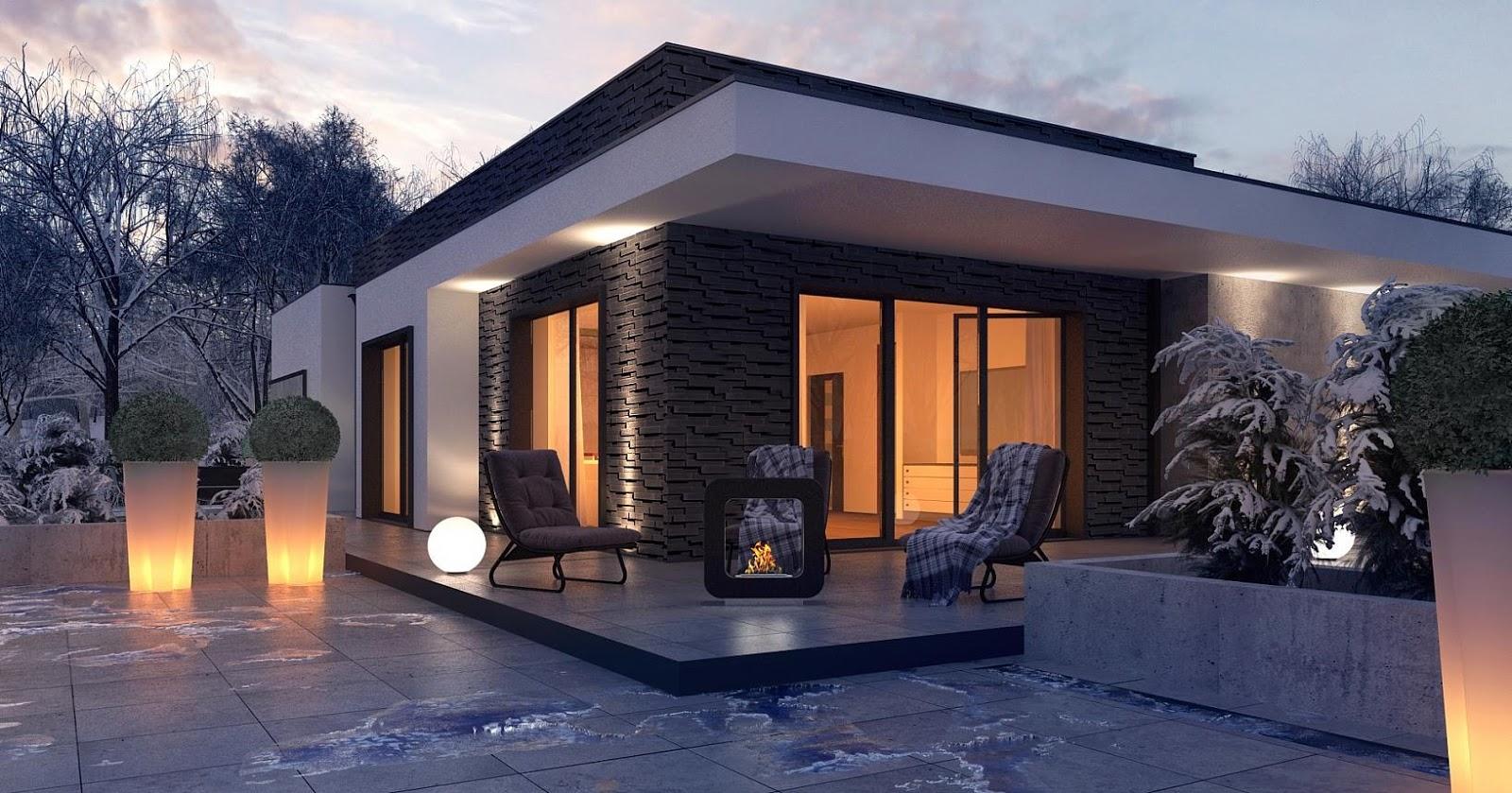 Cristina podina proiect casa moderna pe un singur nivel for Case moderne