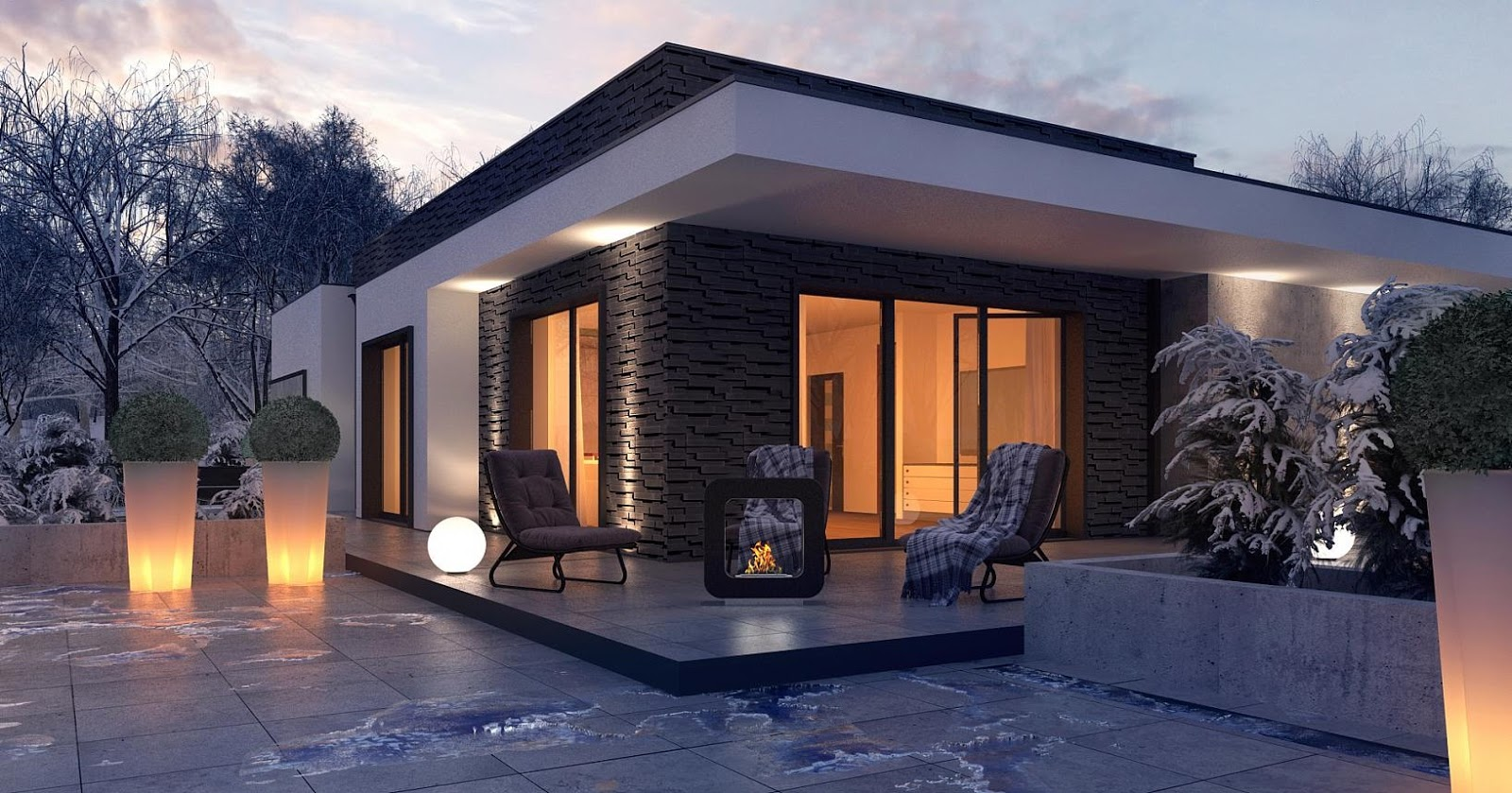 cristina podina proiect casa moderna pe un singur nivel