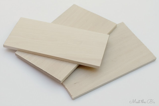 DIY Balsa wood napkin holder