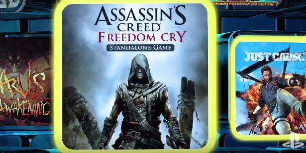Just Cause 3 y Assassin's Creed: Freedom Cry como los destacados de PlayStation Plus de agosto